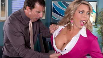 Amber Lynn Bach in 'DDD-Cup Corporate Spy Is Caught and Boned'