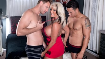 Sally D'Angelo in 'Cumming-on Party For A Mature Bra-Buster'
