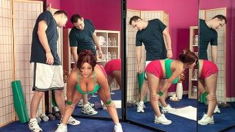Tatiana Blair in 'Short 'N' Stacked Workout'