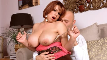 Veronika in 'A Busty Redhead Goes For An Autumn Fling'